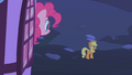 Pinkie Pie saying goodbye to her friends after the party S1E25.png