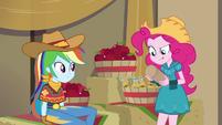 Pinkie Pie shaking a confetti popper EGDS25