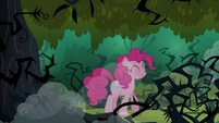 Pinkie realizes that the echoes was her voice S3E03