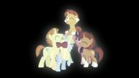 Ponies celebrating Sunburst S5E26