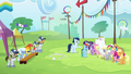 Ponyville team cheers for Rainbow S4E10.png