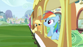 Rainbow Dash and Applejack at train window S2E25.png