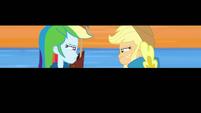 Rainbow Dash and Applejack glaring at each other EGDS4
