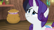 Rarity smelling Spike's molt smell S8E11