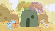 S07E11 Krowy pomagają kozom usunąć piasek z wioski