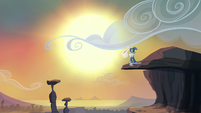 Star Swirl writes from top of a mountain S8E16