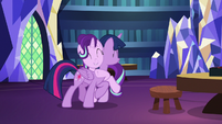 Starlight Glimmer hugging Twilight Sparkle S7E24