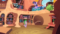 Twilight Sparkle looking at Spike S2E03