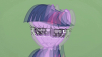 Twilight in Applejack's blurry vision S1E04