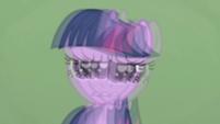 Twilight in Applejack's blurry vision S1E04