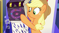 Applejack discovers Rainbow's shredded pages S7E14.png