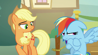 Applejack seeing Rainbow get impatient S8E5