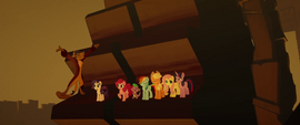 Capper and ponies riding a water wheel MLPTM