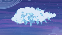 Cloud freezing over with ice S4E24