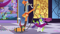 Discord vacuums slimy dress off of Rarity S5E7.png