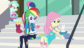 Fluttershy putting a small sweater on Angel EGDS4.png