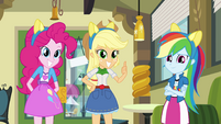 Pinkie Pie, Applejack, and Dash with pony ears EG