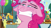 Pinkie Pie about to blink S7E23