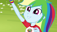 "Rainbow Dash calls out ""tetherball!"" EG4"