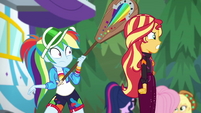 Rainbow Dash looking at angered Sunset EGSBP