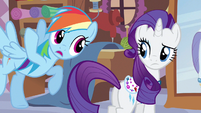 Rainbow Dash pointing out S3E11