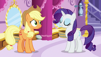 "Rarity ""Miss Pommel is making the point"" S7E9"
