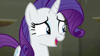 Rarity laughing nervously S6E9