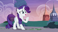 Rarity pleasantly surprised -but how-- S7E9