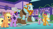 "Rockhoof ""not used to living with dragons"" S8E21"