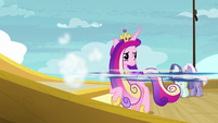 Shining Armor speeding away from Cadance S7E22