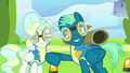 Sky Stinger nudging Vapor Trail with his elbow S6E24.png