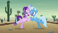 Starlight and Trixie -poof of smoke- S8E19