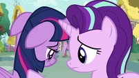 Starlight consoling a discouraged Twilight S7E14