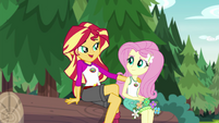 Sunset Shimmer singing to Fluttershy EG4