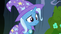 Trixie making a nervous scrunchy face S7E17