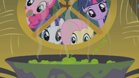 Twilight and friends look at Zecora's brew S1E09