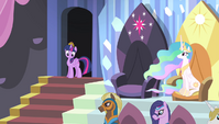 Twilight enters the royal box seating area S4E24
