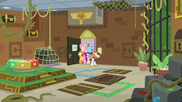 File:Wide view of Mane Six's escape room S7E2.png