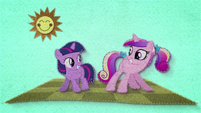 Young Twilight and Cadance do a little shake BFHHS1