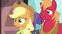 Applejack and Big Mac confused by Pinkie Pie S6E17