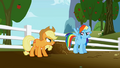 Applejack and Rainbow Dash rivalry S1E03.png