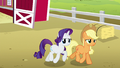 Applejack and Rarity follow Rainbow and CMC S6E15.png
