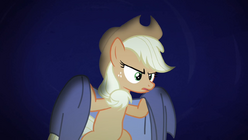 Applejack with a sheet S4E07