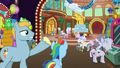 Big Stallion gesturing toward other old ponies S8E5.png
