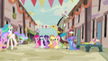 Discord talks with Trixie as Mane Six join the party S6E26.png