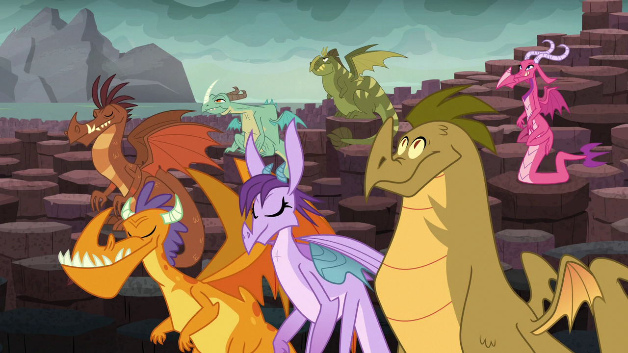 Image Dragons Nodding In Agreement S6e5g My Little Pony