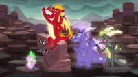 Garble and his friends cheer S6E5
