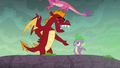 Garble wishes Spike good luck S6E5.png