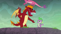 Garble wishes Spike good luck S6E5