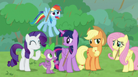 Main cast in varied confusion and amusement S9E25